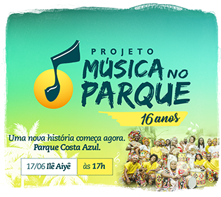 O projeto Música no Parque 16 anos está de casa nova